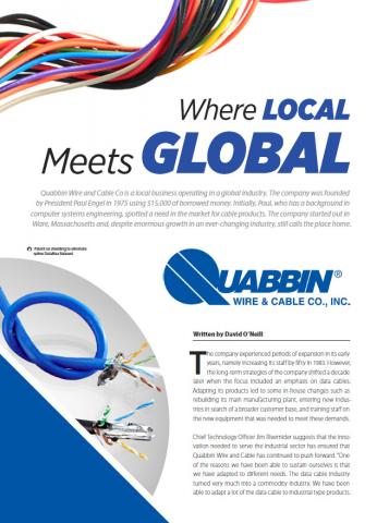 Quabbin Wire & Cable- Where Local Meets Global | Quabbin ... on