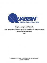 Quabbin Wire & Cable Fluid Test Report | Quabbin Wire & Cable